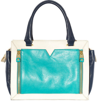 Vince Camuto Tara Leather Colorblock Satchel