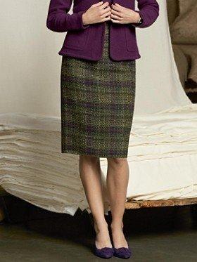 Pendleton Tweeded Plaid Pencil Skirt