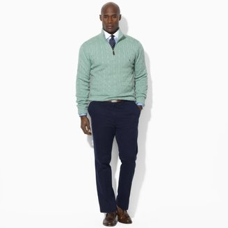 Polo Ralph Lauren Big & Tall Cable-Knit Half-Zip Sweater