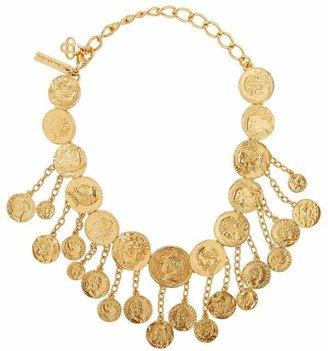 Oscar de la Renta Gold-Tone Coin Necklace