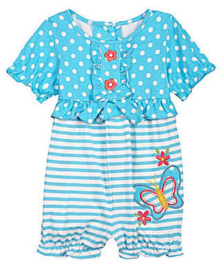 Starting Out Newborn Turquoise Butterfly Romper