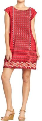 Old Navy Women's Mixed-Print Crepe Shift Dresses