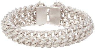 Susan Caplan Vintage 1980s Vintage Brushed Curb Chain Bracelet