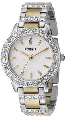 Women's Fossil 'Jesse' Crystal Embellished Bracelet Watch, 34Mm $125 thestylecure.com