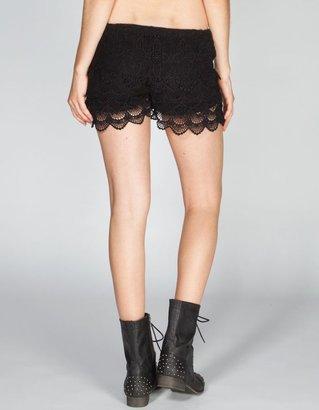 Lost Bossanova Womens Lace Shorts