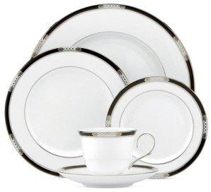 Lenox Dinnerware, Hancock Platinum White 5 Piece Place Setting