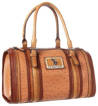 U.S. Polo Assn. USPA Collaborate Satchel (Tan) - Bags and Luggage