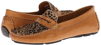 Massimo Matteo Penny with Cheeta Vamp (Tan Bison/Cheeta) Women's Moccasin Shoes