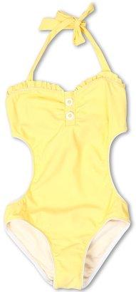 Seafolly Daisy Lane Cut Out Tank (Little Kids/Big Kids) (Sunflower) Girl's Swimwear