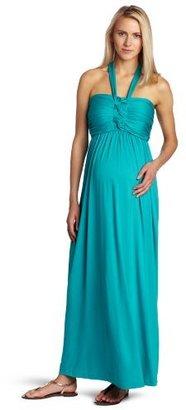 Maternal America Women's Maternity Braided Halter Dress