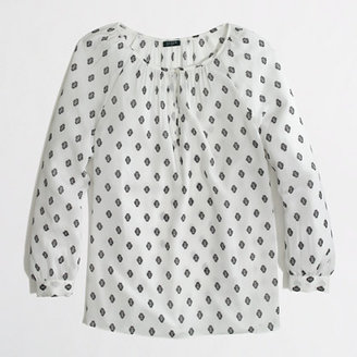 J.Crew Factory Factory printed keyhole top