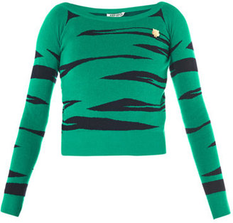 Kenzo Tiger jacquard-knit sweater