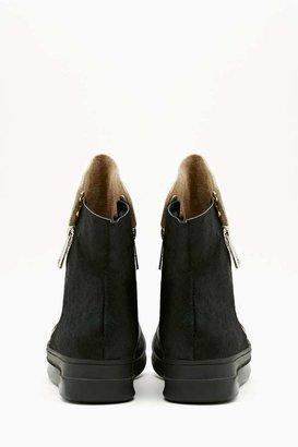 Nasty Gal Sci Fi Fur Sneaker