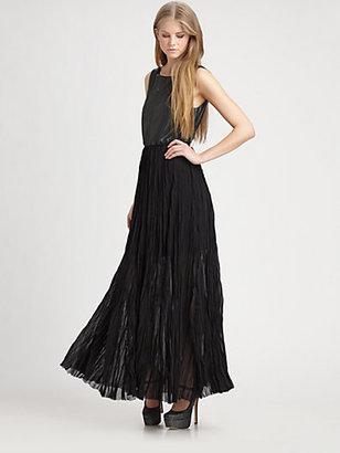 Alice + Olivia Arra Leather Maxi Dress