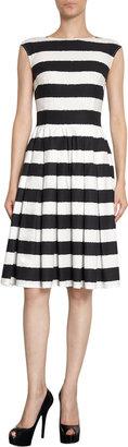 Dolce & Gabbana Striped Flare Dress