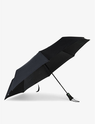 Fulton Mens Black Jumbo Open And Close Folding Umbrella
