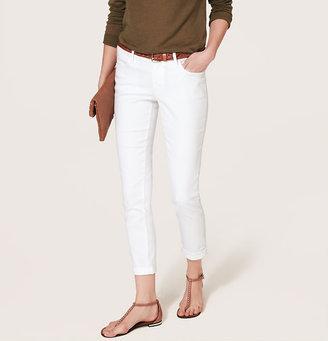 LOFT Modern Skinny Cuffed Ankle Jeans in White