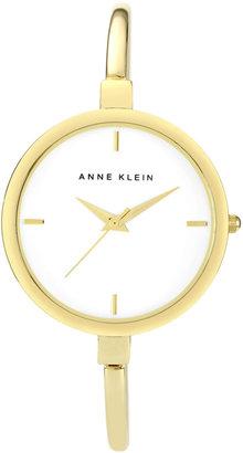 Anne Klein Women's Gold Thin Bangle Watch