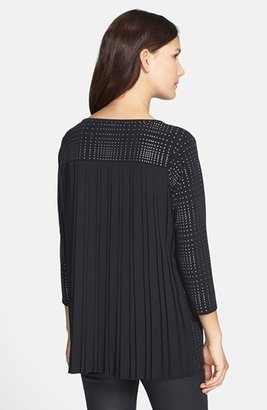 Chaus Studded Pleat Back Top