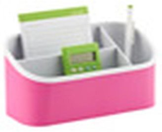 Container Store Magnetic Organizer Bin Pink/White