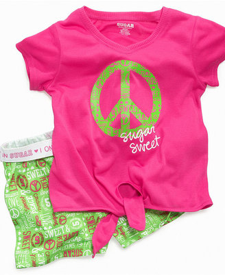 Sugar Sweet Couture Kids Set, Girls or Little Girls 2-Piece Pajamas with Short-Sleeved Shirt and Shorts