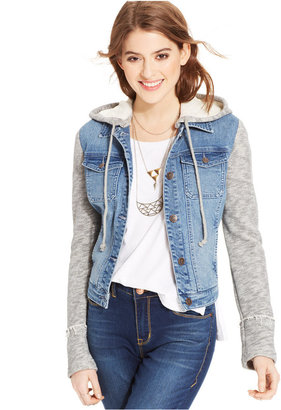 American Rag Terry Denim Jacket, Only at Macy's $69.50 thestylecure.com