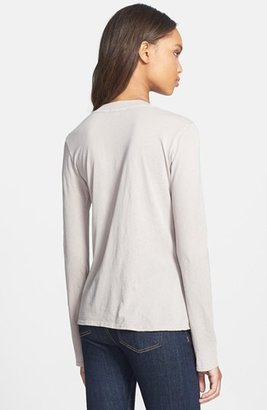 James Perse Long Sleeve Cotton Tee