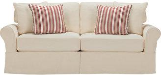 Cindy Crawford Home Beachside Natural Denim Sofa