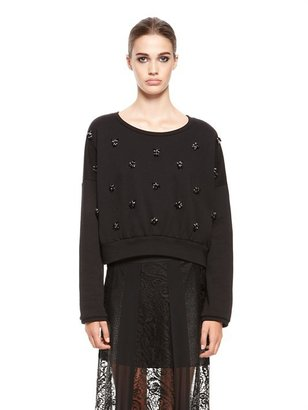DKNY Scoopneck Pullover With Embellished Front