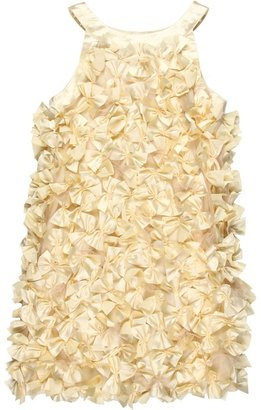 Biscotti Glimmer In Gold Sleeveless Dress (Little Kids) (Champagne) - Apparel