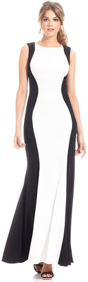 JS Collections Dress, Sleeveless Colorblock Gown