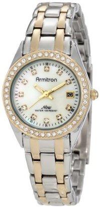 Armitron Women's 75/4024MPTT Swarovski Crystal Accented Two-Tone Bracelet Dress Watch $65 thestylecure.com