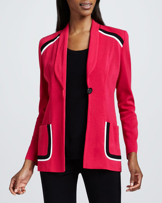 Misook Paige Tipped Jacket, Women's