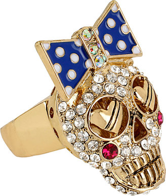 Betsey Johnson Crystal Stretch Ring