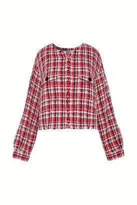 Gerard Darel Short Jacket In Colourful Tweed