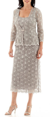 R & M Richards R&M Collection 3/4-Sleeve Sequin Lace Jacket Dress $120 thestylecure.com