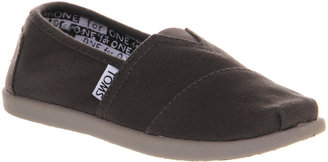 Toms Youth Classics Ash Grey Canvas