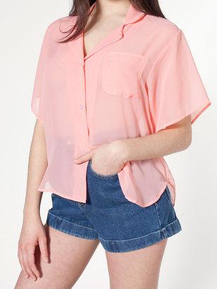 American Apparel Short Sleeve Boxy Blouse