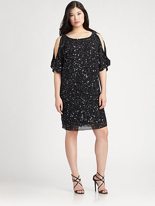 Aidan Mattox Aidan Mattox, Sizes 14-24 Sequin Cocktail Dress