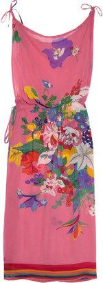 Tara Matthews Cherry floral-print silk-chiffon beach dress