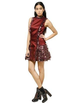 Christopher Kane Feather & Silk Satin Dress