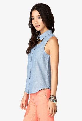 Forever 21 crocheted-back shirt