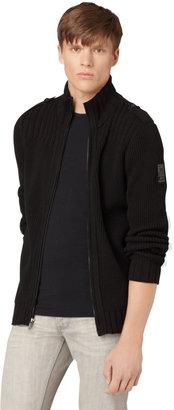 CK Calvin Klein Ribbed Full-Zip Cardigan