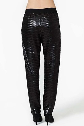 Nasty Gal Whitney Eve Late Night Sequin Track Pant