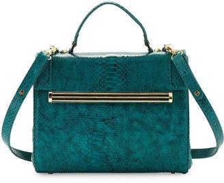 Ivanka Trump Kelly Snake-Print Satchel Bag, Jade