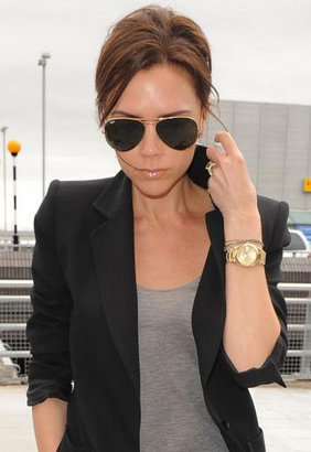 Ray-Ban Aviator Extra Large 62 mm Metal Sunglasses - as seen on Victoria Beckham -