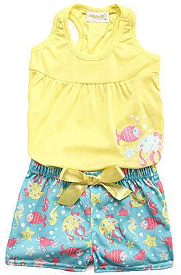 Capelli New York 2T-6X Sealife Print Pajama Set