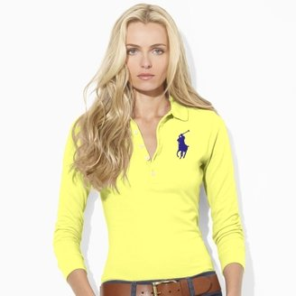 Ralph Lauren Blue Label Cropped-Sleeve Big Pony Polo
