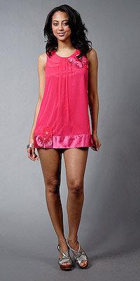 eDressMe Fuschia Chiffon Cocktail Mini Dresses