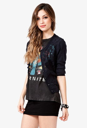 Forever 21 Lace Front Cardigan